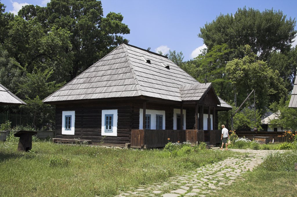 Stock Photo: 4290-3578 Traditional building, Muzeul National al Satului Dimitrie Gusti, Ethnographic Village Museum, Bucharest, Romania