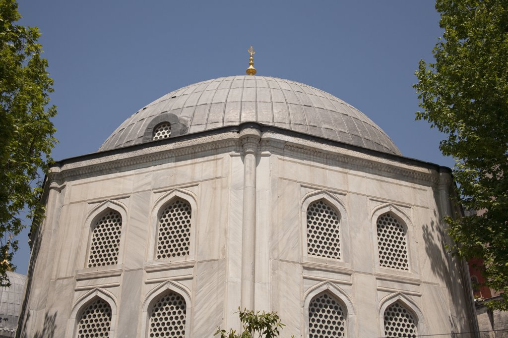 Stock Photo: 4290-3583 Domed building in grounds of Haghia Sophia Mosque, Istanbul, Turkey