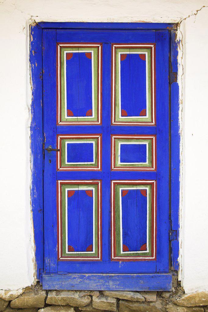 Door of building, Muzeul National al Satului Dimitrie Gusti, Ethnographic Village Museum, Bucharest, Romania : Stock Photo