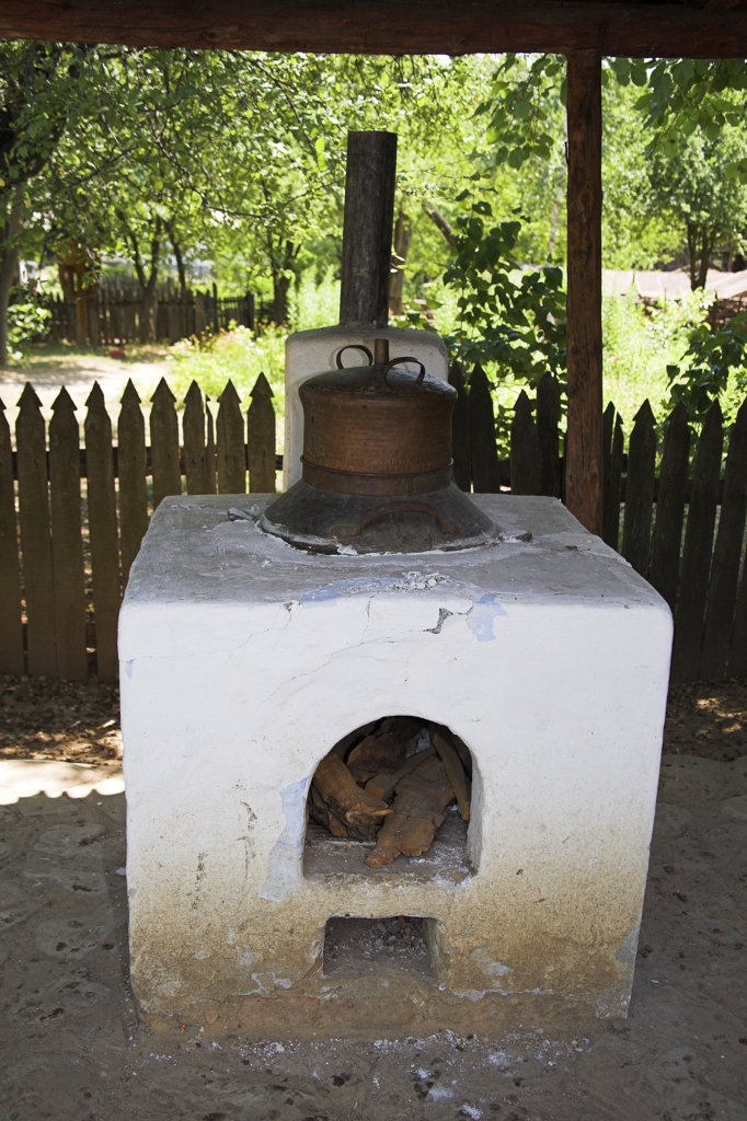 Stock Photo: 4290-3613 Stove or oven, Muzeul National al Satului Dimitrie Gusti, Ethnographic Village Museum, Bucharest, Romania