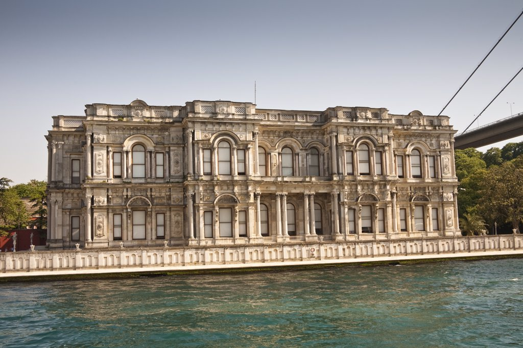Beylerbeyi Palace, Uskudar, on the Asian side of the Bosphorus, Istanbul, Turkey : Stock Photo