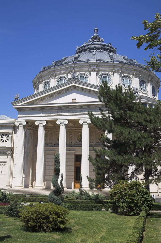 Stock Photo: 4290-3718 Romanian Atheneum, Atheneul Roman, Str Benjamin Franklin, Bucharest, Romania