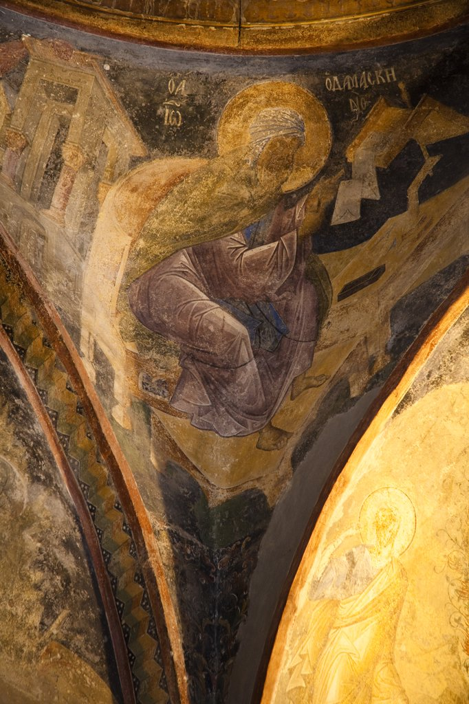 Stock Photo: 4290-3782 Fresco inside Chora Museum, also known as Kariye Muzesi, Edirnekapi, Istanbul, Turkey