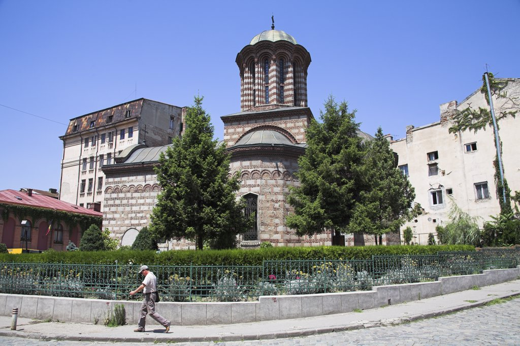 Stock Photo: 4290-3790 Old Princely Court Church, Biserica Curtea Veche, Franceza Street, Bucharest, Romania