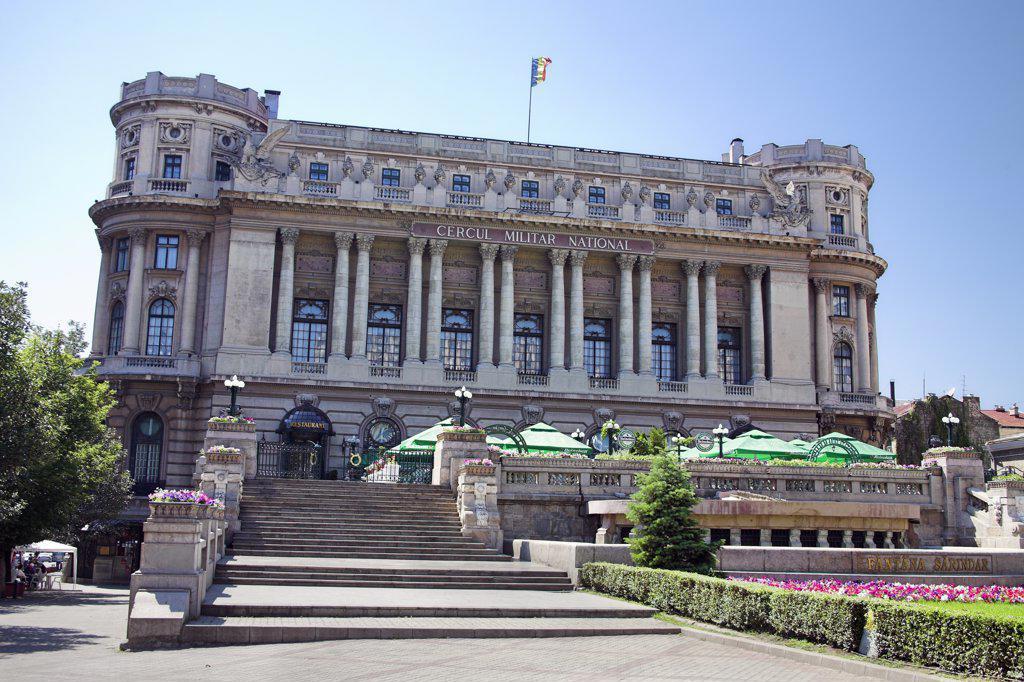 Stock Photo: 4290-3816 Cercul Militar National, National Military Club, Boulevard Regina Elisabeta and Calea Victoriei, Bucharest, Romania