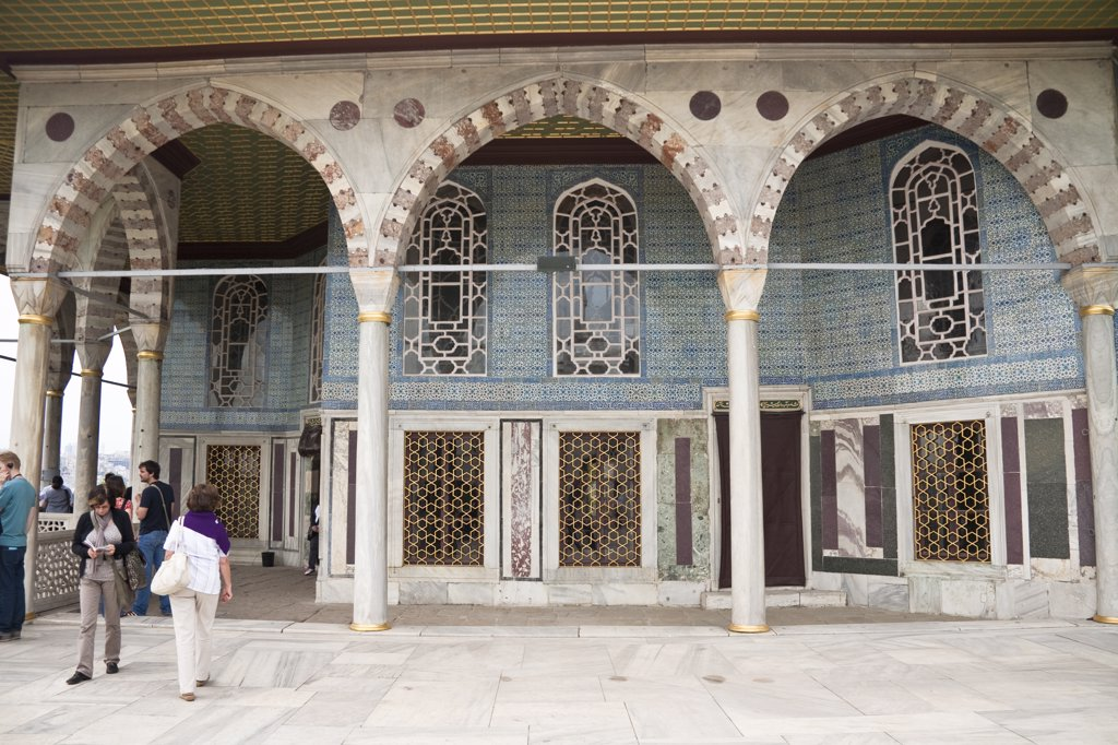 Baghdad Pavilion, Topkapi Palace, also known as Topkapi Sarayi, Sultanahmet, Istanbul, Turkey : Stock Photo