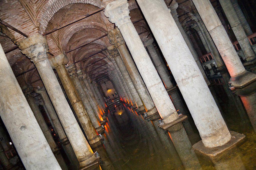 Stock Photo: 4290-3890 The Basilica Cistern, Yerebatan Sarnici, Sultanahmet, Istanbul, Turkey