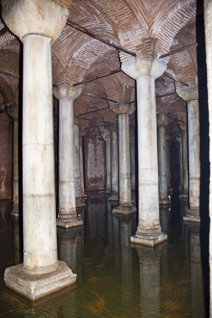 The Basilica Cistern, Yerebatan Sarnici, Sultanahmet, Istanbul, Turkey : Stock Photo