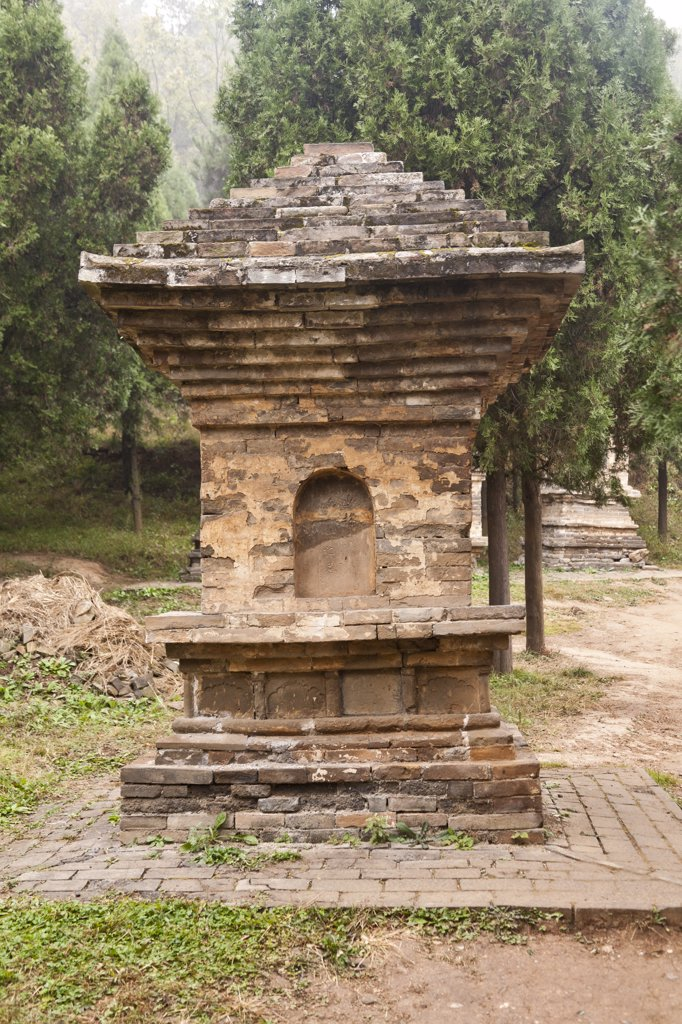Stock Photo: 4290-4323 Pagoda in the Pagoda Forest cemetery, Shaolin Temple, Song Shan, near Zhengzhou, Henan Province, Dengfeng, China