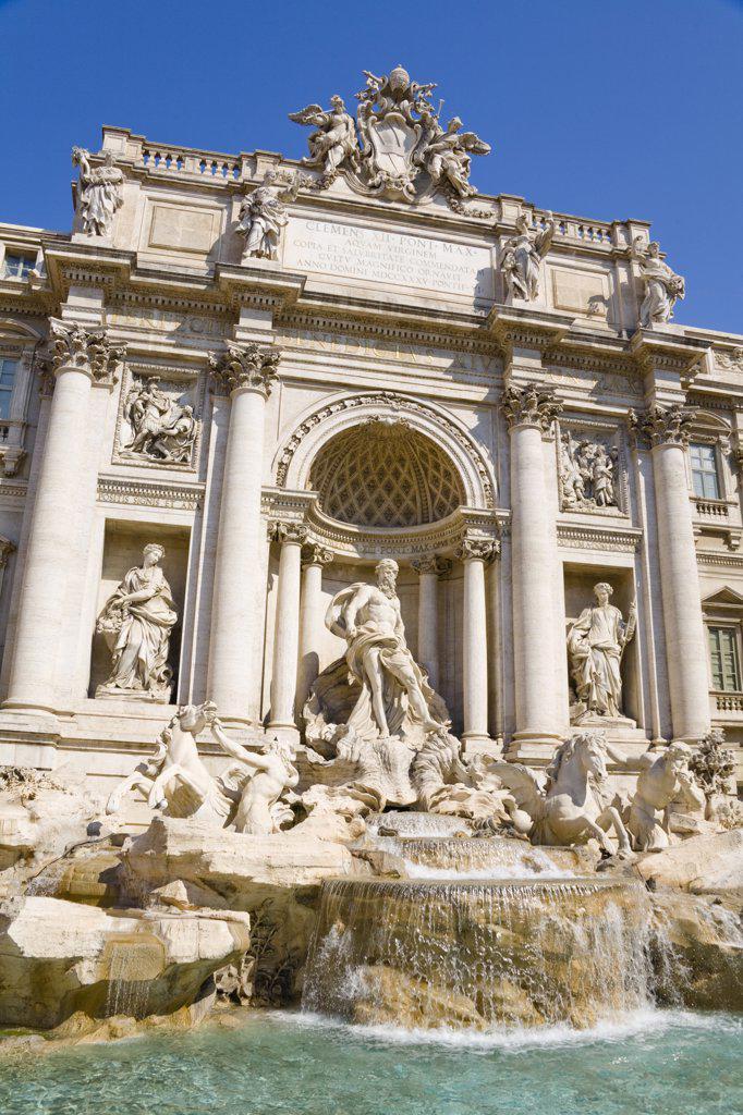 Trevi Fountain, Piazza di Trevi, Rome, Italy : Stock Photo