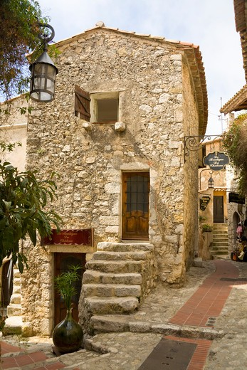 Gift shop in the medieval village of Eze, near Monaco, France : Stock Photo