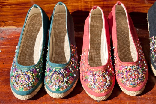 Stock Photo: 4290-4976 Colourful shoes for sale, China