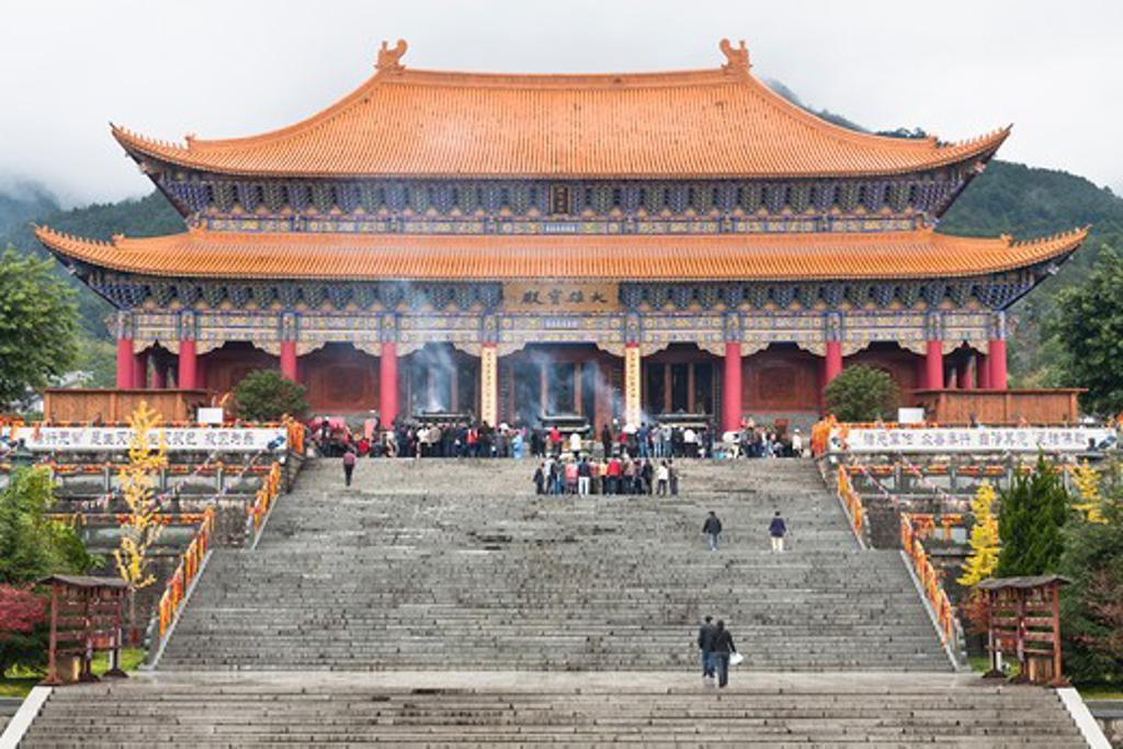 Stock Photo: 4290-5034 Da Xiong Bao Dian, Great Hall, Chongsheng Temple, Dali, Yunnan Province, China
