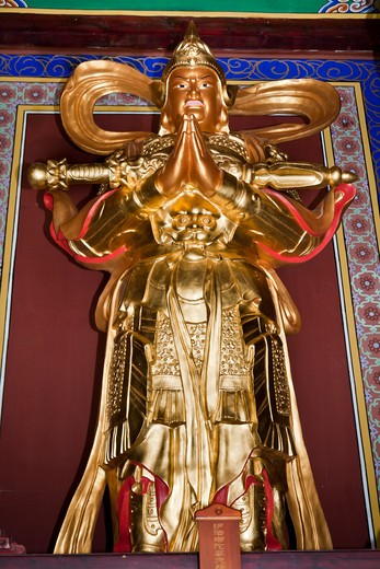 Buddha statue, Chongsheng Temple, Dali, Yunnan Province, China : Stock Photo