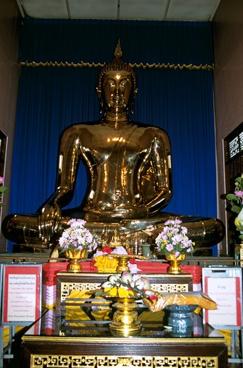 Stock Photo: 4290-5383 Golden Buddha, Temple of the Golden Buddha, Wat Traimit (also known as Wat Trimitr), Bangkok, Thailand
