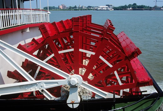 Natchez steamboat paddle steamer, Mississippi River, New Orleans, Louisiana, USA : Stock Photo