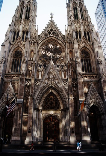 Saint Patrick's Cathedral, 50th Street and 5th Avenue, New York City, New York, USA : Stock Photo