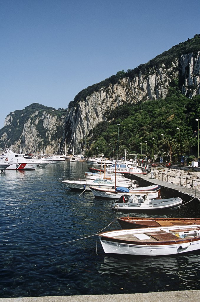 Stock Photo: 4290-5777 Boats moored in the harbour, Marina Grande, Capri, Italy
