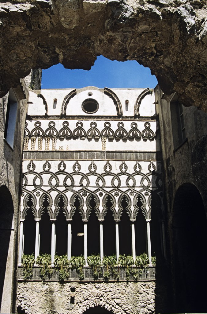 Stock Photo: 4290-5833 Cloisters in Villa Rufolo, Ravello, Amalfi Coast, Campania, Italy
