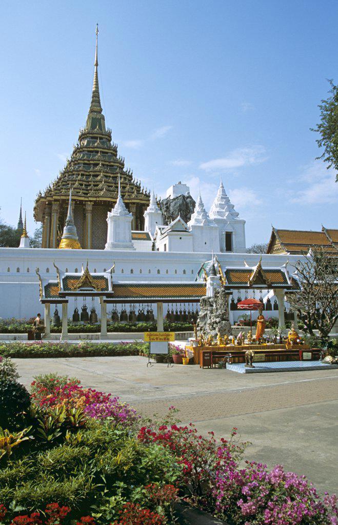 Wat Phra Phutthabat Temple, (Wat Phra Buddhabat), near Lopburi, Saraburi Province, Thailand : Stock Photo