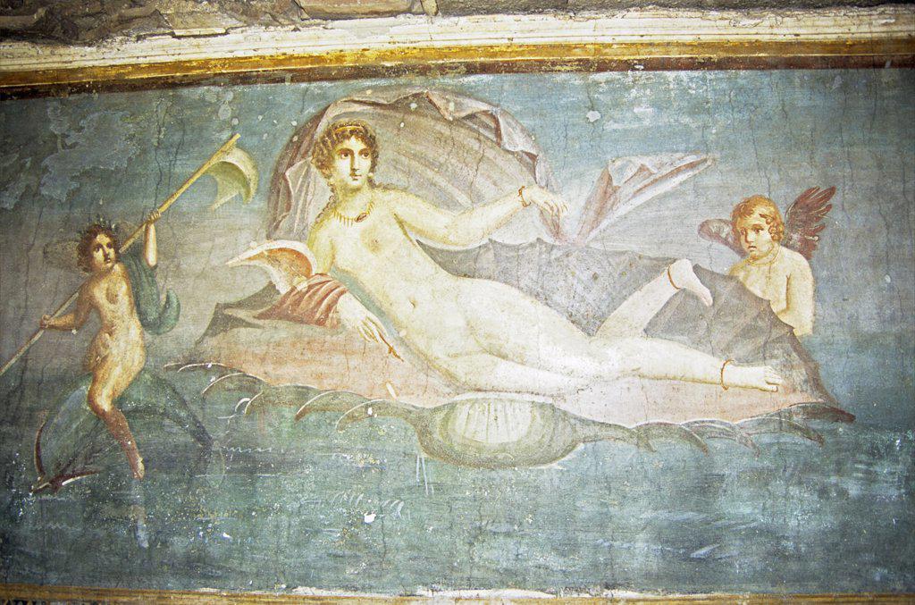Stock Photo: 4290-5869 Painting of Venus, House of Venus, Pompeii archaeological site, Pompeii, near Naples, Campania, Italy