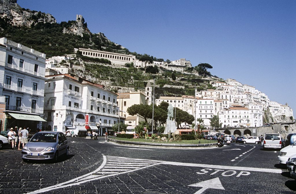 Stock Photo: 4290-5879 Town of Amalfi, Amalfi Coast, Campania, Italy