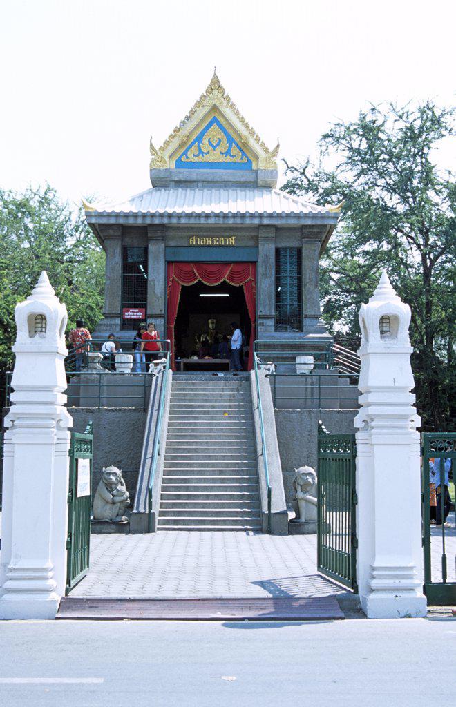 Stock Photo: 4290-5920 San Phra Kan Shrine, Lopburi, Saraburi Province, Thailand