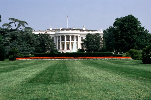 Stock Photo: 4290-6175 The White House, Pennsylvania Avenue, Washington, DC, USA