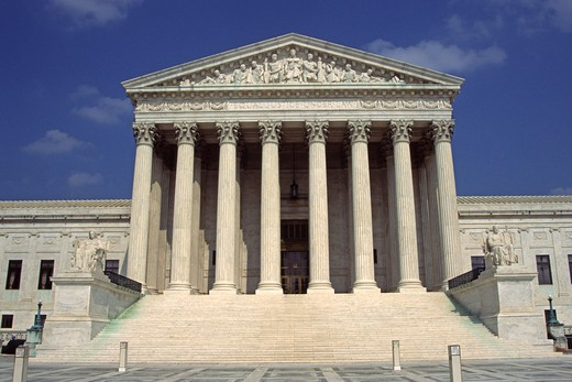 Stock Photo: 4290-6224 United States Supreme Court building, Washington, DC, USA