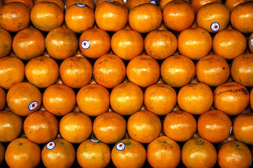 Oranges for sale in a shop, Thailand : Stock Photo