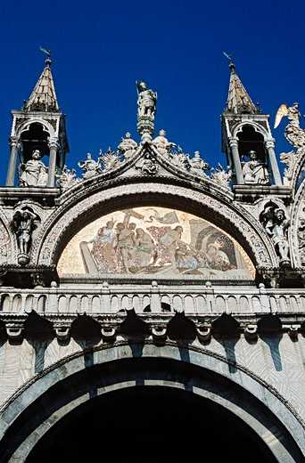 Basilica di San Marco, Saint Mark's Basilica, Piazza San Marco, Saint Mark's Square, Venice, Italy : Stock Photo