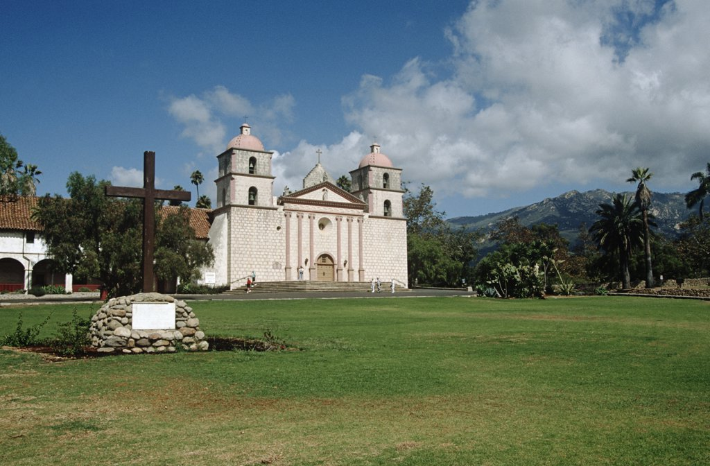 Stock Photo: 4290-6495 Santa Barbara Mission, Santa Barbara, California, USA