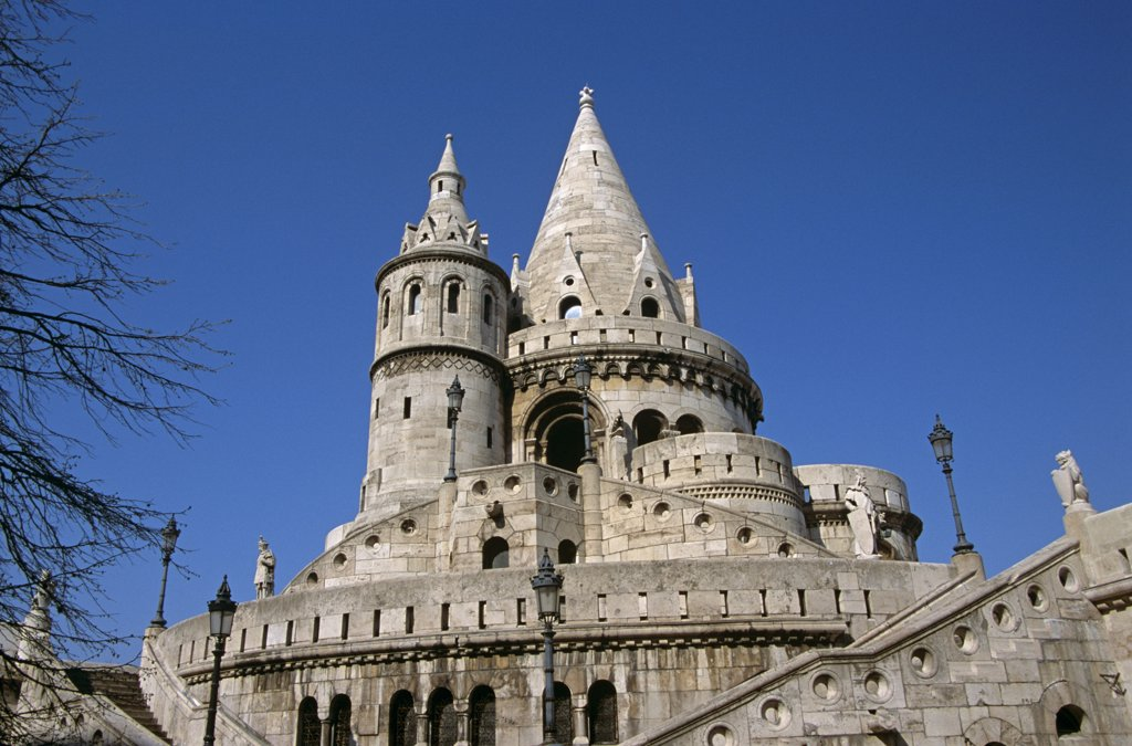 Stock Photo: 4290-6662 Fishermen's Bastion, Trinity Square, Castle Hill District, Budapest, Hungary