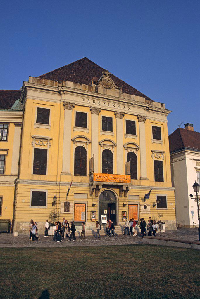 Stock Photo: 4290-6718 Varszinhaz building, Nemzeti Tancszinhaz housing the National Dance Theatre, Castle Hill District, Budapest, Hungary