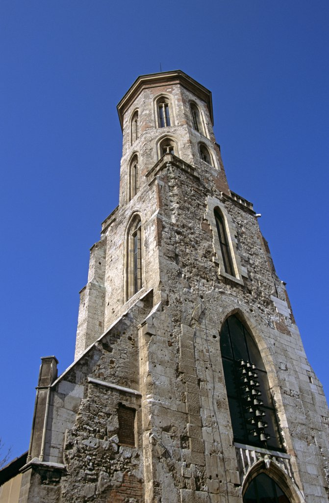 Mary Magdalene Church Tower, Uri Utca, Castle Hill District, Budapest, Hungary : Stock Photo