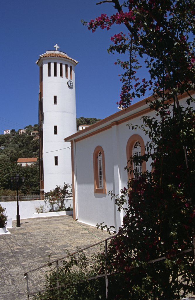 Stock Photo: 4290-7025 Saint John's Church, or Agios Ioannis, Kioni, Ithaca, Greece