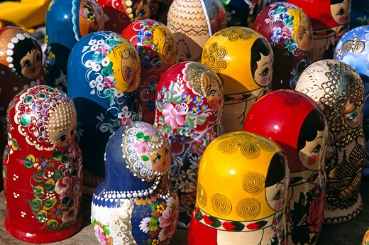 Stock Photo: 4290-7207 Colourful Russian dolls, Sofia, Bulgaria