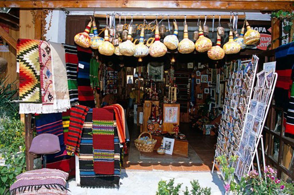 Gift shop, Melnik, Bulgaria : Stock Photo