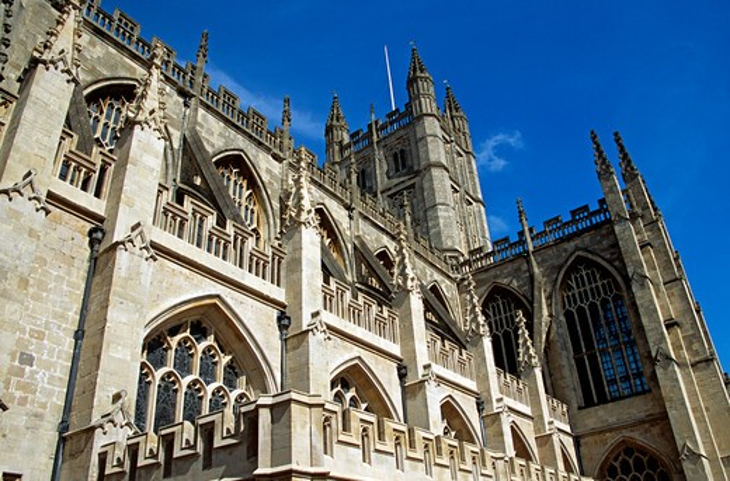Bath Abbey, Bath, Somerset, England : Stock Photo