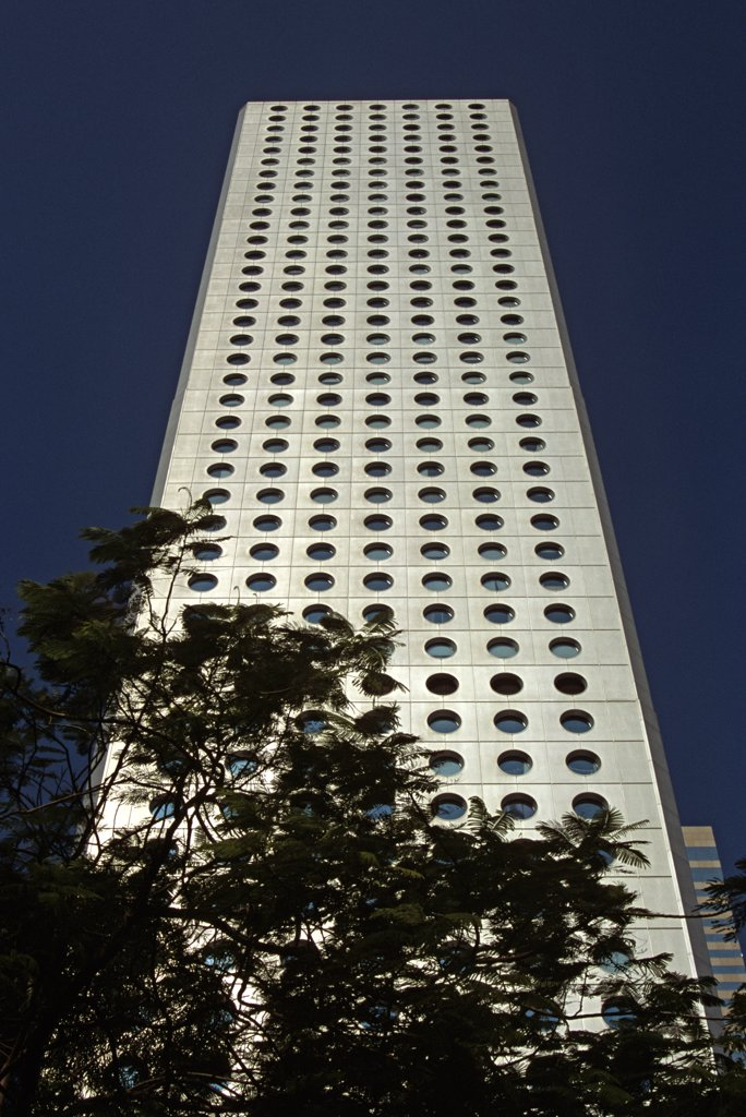 Stock Photo: 4290-7753 Jardine House, Connaught Place, Financial District, Hong Kong, China