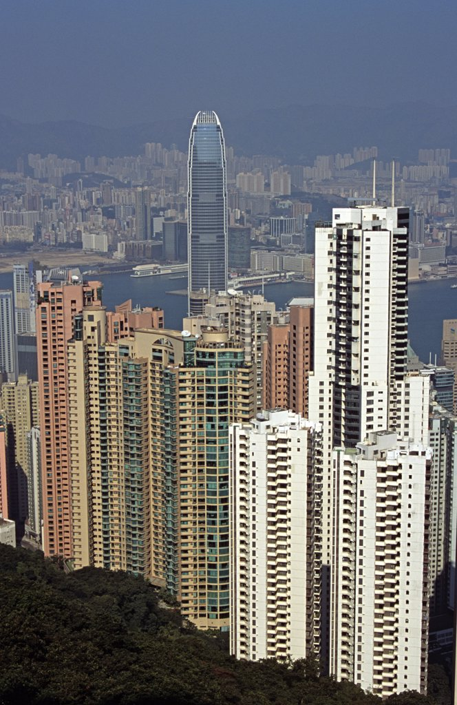 Stock Photo: 4290-7779 View from Victoria Peak, Hong Kong, China