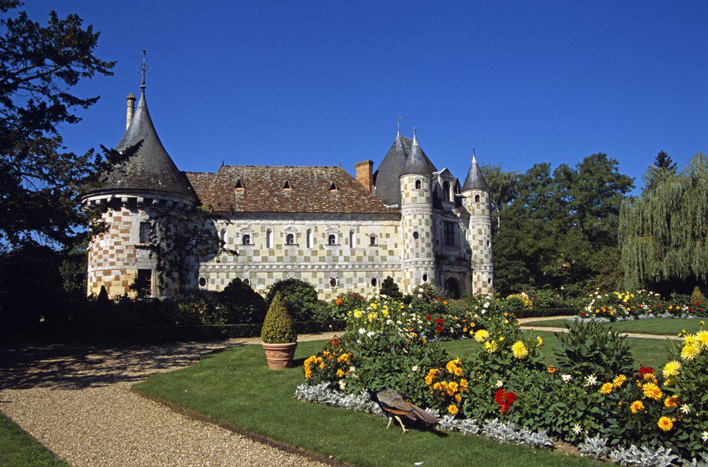 Chateau de St-Germain-de-Livet, Normandy, France : Stock Photo