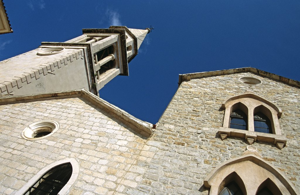 Saint Ivan, Saint John, Catholic Church, Budva, Montenegro, Former Yugoslavia. : Stock Photo
