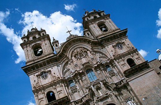 Iglesia La Compania de Jesus, Plaza de Armas, Cusco, Peru : Stock Photo
