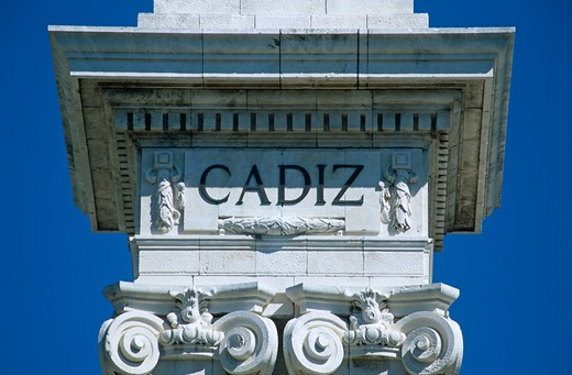 Stock Photo: 4290-8653 Part of Monument dedicated to Cortes of Cadiz of 1812, Cadiz Parliament, Plaza de Espana, Cadiz, Spain