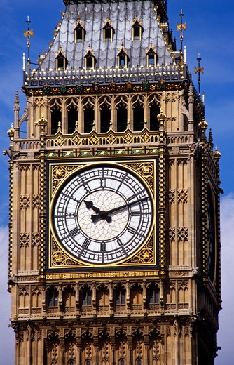 Stock Photo: 4290-8704 Big Ben, St Stephen's Tower, Houses of Parliament, Westminster, London, England