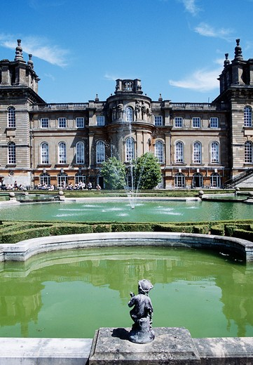 Stock Photo: 4290-8944 Blenheim Palace, Woodstock, near Oxford, Oxfordshire, England. View from upper water terrace