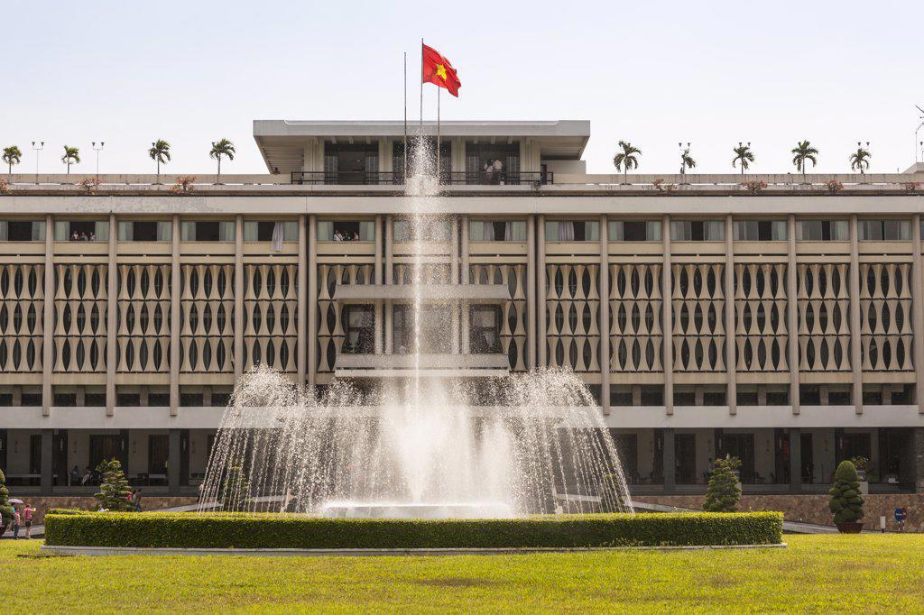 Stock Photo: 4290-9201 Vietnam, (Saigon), Ho Chi Minh City, Nam Ky Khoi Nghia Street, Reunification Hall