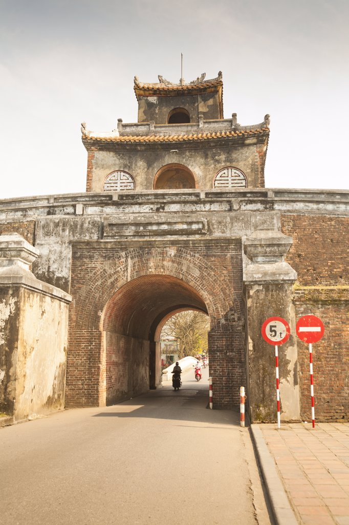 Vietnam, Hue, Ngan Gate at entrance to Citadel, : Stock Photo