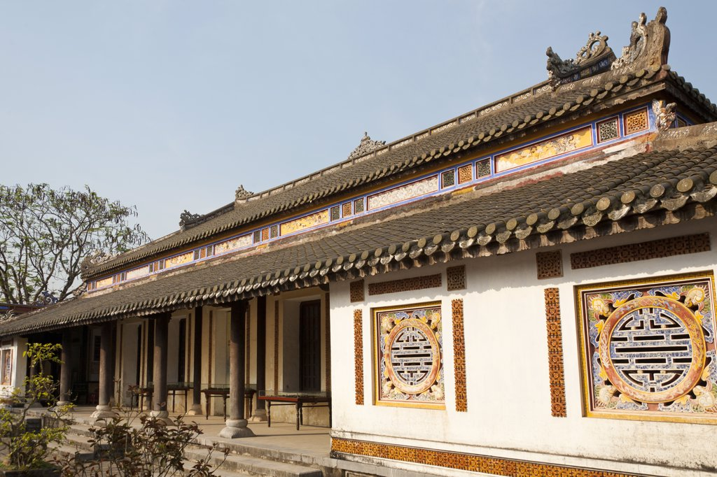 Stock Photo: 4290-9416 Vietnam, Hue, Hall of Mandarins in Imperial City,